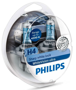 Автолампы Philips 2*H4+60% WhiteVision ultra +W5W
