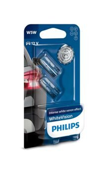 Автолампы Philips w5w 12v-5w White Vision
